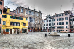 Venice square under a dramatic sky Royalty Free Stock Image