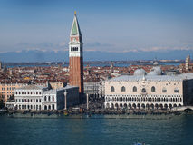 Venice - St. Marc Square and Doge's Palace Stock Image