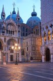 Venice, St. Mark's Square. Night view of St. Mark's Square in Venice Stock Image