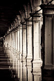 Venice, St Marks Square. Beautiful perspective view of venetian pillars on St. Marks Square, Venice Royalty Free Stock Photography