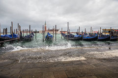 Venice - station of gondolas Royalty Free Stock Photos