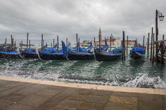 Venice - station of gondolas Stock Photos