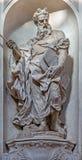 Venice - Statue of Moses (1738 - 1755) from church Santa Maria del Rosario (Chiesa dei Gesuati) by Giovani Maria Morlaiter Stock Images