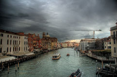 Venice storm. The Grand Canal of Venice before a storm Stock Photos