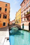 Venice street and bridges Stock Photography