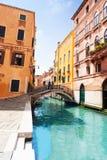 Venice street and bridges Stock Photography
