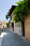 Venice street with doors Stock Images
