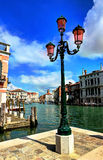 Venice street lamp. Venice old architecture street lamp, Italy Stock Images