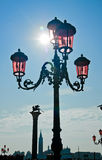 Venice street lamp on Saint Marco square Stock Photo