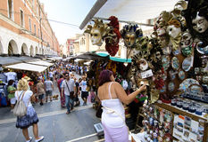 Venice Street Market. Venice, Italy, July 4th 2010. The world's 28th most internationally visited city has an average of 50,000 tourists a day Royalty Free Stock Image