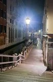 Venice street at night, Italy Royalty Free Stock Photos
