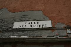 Venice, street plate royalty free stock images