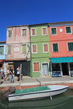 Venice street view in Italy. Royalty Free Stock Photos