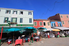 Venice street view in Italy. Royalty Free Stock Images