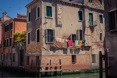 Venice streets. Colorful photo of the venice streets with canals Stock Image