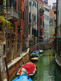 Venice Streets. One of the many canals in Venice, Italy in the early morning Royalty Free Stock Photos