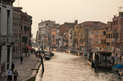 Venice streets. The 'streets' of Venice, Italy, in actuality canals Stock Photos
