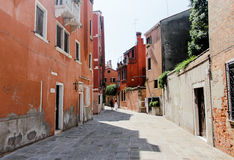 Venice. In the summer, old district in siesta Stock Photos