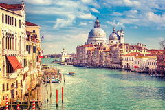 Venice at sunny evening Stock Photos