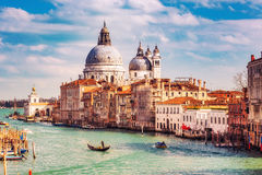 Venice at sunny evening Royalty Free Stock Photo