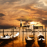 Venice on sunset royalty free stock photo