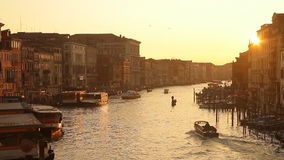 Venice sunset stock video