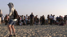 Venice Sunset Crowd. Shot with a Sony EX3 broadcast quality camera stock video footage