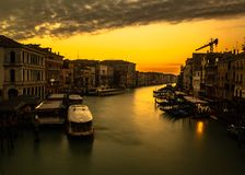 Venice on sunset, Italy royalty free stock images