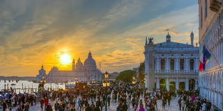 Venice at sunset, Italy Royalty Free Stock Photos