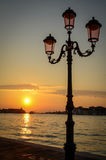 Venice Sunset Royalty Free Stock Photo