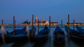 Venice after sunset Stock Image