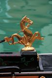 Venice symbol: golden sea horse decorating gondola Stock Photography