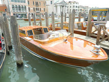 Venice taxi boat. This is a photo of a fast and expensive taxi boat in Venice, Italy Royalty Free Stock Photography