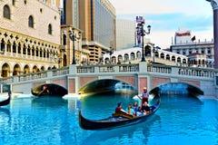 Venice Theme Venetian with Gondola Stock Photo