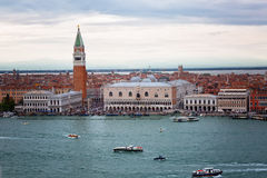 Venice, a top view of Piazza San Marco Stock Photos