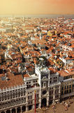 Venice. Top view on place San Marco,sunset Royalty Free Stock Images