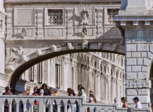 Venice - Tourists at Bridge of Sights Stock Photos