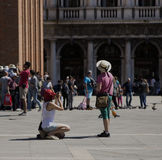 Venice Tourists Royalty Free Stock Images