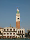 Venice - The tower of St Mark and Zecca Stock Photos