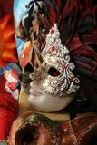 Venice: traditional carnival mask with feathers Royalty Free Stock Photo