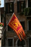 Venice, typical Venetian flag royalty free stock photos