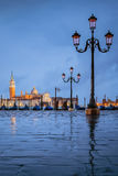 Venice under the rain Royalty Free Stock Images