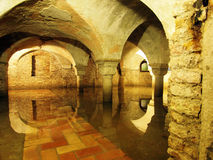 Venice undergound - The crypt of St. Zachary Church Royalty Free Stock Images