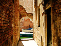 Venice, underpass  Royalty Free Stock Images