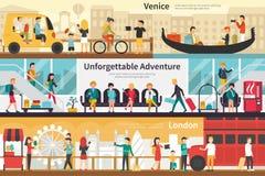 Venice Unforgettable Adventure London flat interior outdoor concept web Stock Image