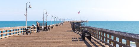 VENICE, UNITED STATES - MAY 21, 2015: Ventura Historic wooden Pier in Los Angeles, USA. VENICE, UNITED STATES - MAY 21, 2015: Ventura Historic wooden Pier in Los stock images