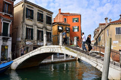 Venice urban life Royalty Free Stock Photo