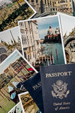 Venice Vacation Photos with Passport Royalty Free Stock Photography