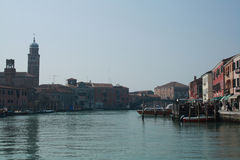 Venice from the vaporetto. Sightseing from the vaporetto, Venice Stock Image