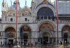 VENICE, VE, ITALY - January 31, 2015: Saint Mark's Basilica duri Stock Photos